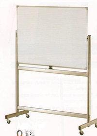 Доска магнитно-маркерная 90x150см, двухсторонняя, алюминиевая подставка, 4колеса, Data Zone