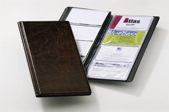 Визитница на 96 визиток, 115x253мм, коричневая Durable