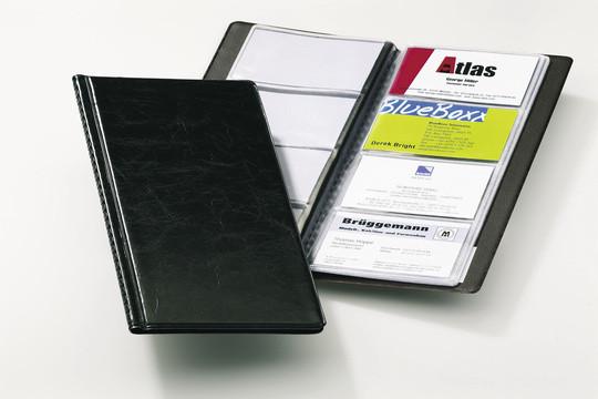 Визитница на 96 визиток, 115x253мм, черная Durable