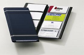 Визитница на 96 визиток, 118x250мм, темно-синяя Durable
