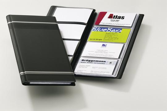 Визитница на 96 визиток, 118x250мм, черная Durable
