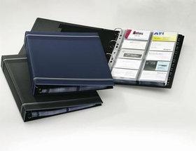 Визитница на 400 визиток, 255x315мм, разделитель A-Z, колц.механизм, темно-синяя Durable