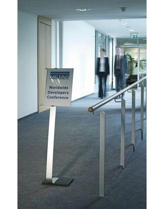Напольный информационный стенд Info Sign  A3 Durable серебристый