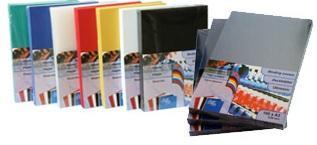 Обложка для переплета, А4, 200микр, пластиковая, прозрачная синяя ProfiOffice