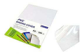 Обложка для переплета, A4, 180микр, пластиковая, прозрачная Bindermax