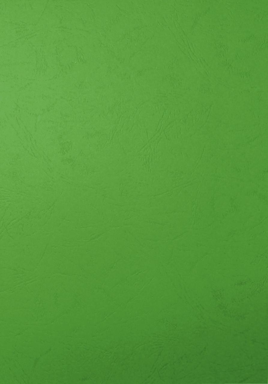 """Обложка для переплета, A4, 230гр, картон """"под кожу"""", зеленая Bindermax"""