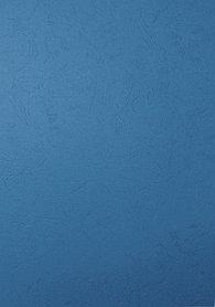 "Обложка для переплета, A4, 230гр, картон ""под кожу"", синяя Bindermax"