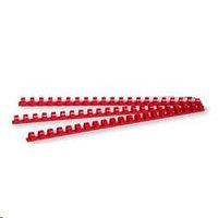 Пружина для переплета, 12мм, 1-90л, пластиковая, красная Bindermax
