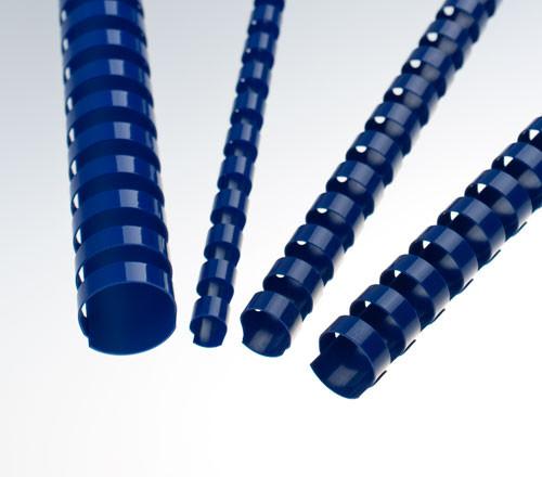 Пружина для переплета, 25мм, 1-220л, пластиковая, синяя Bindermax