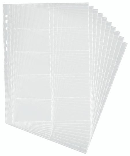 Файлы дополнительные для визитниц №2384,2388, 10л, прозрачные Durable