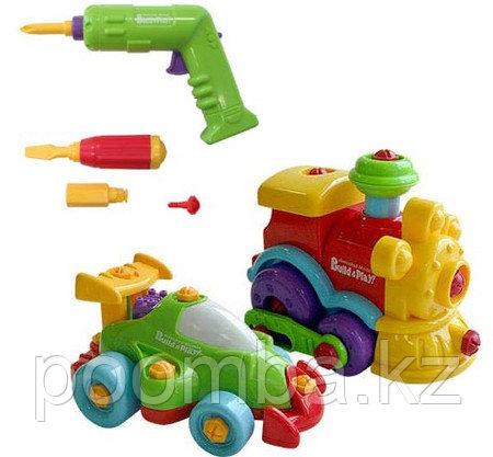 "Keenway Набор ""Build & Play""  ""Машина + паровозик"""