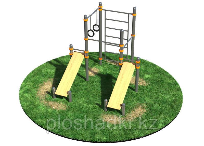 Спортивный комплекс, кольца гимнастические, шведская стенка, скамейки спортивные