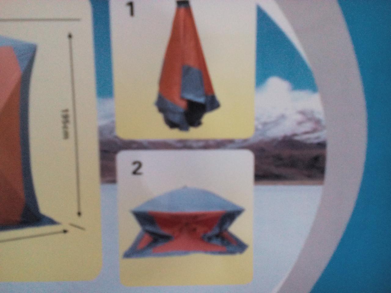 Палатка зимняя куб 2х2м.утеплённая - фото 3