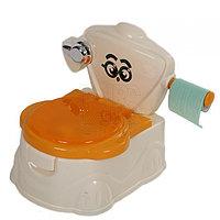 Детский горшок Мини Унитаз молочный/оранжевый FROEBEL, фото 1