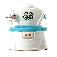 Детский горшок Мини Унитаз молочный/синий FROEBEL, фото 1