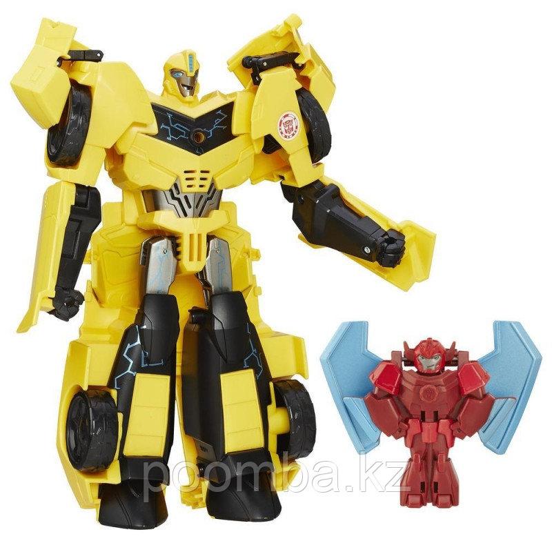 Трансформер Robots in Disguise - Бамблби и миникон Баззстрайк