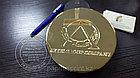 Табличка покрытая золотом, Позолоченная табличка из латуни., фото 4