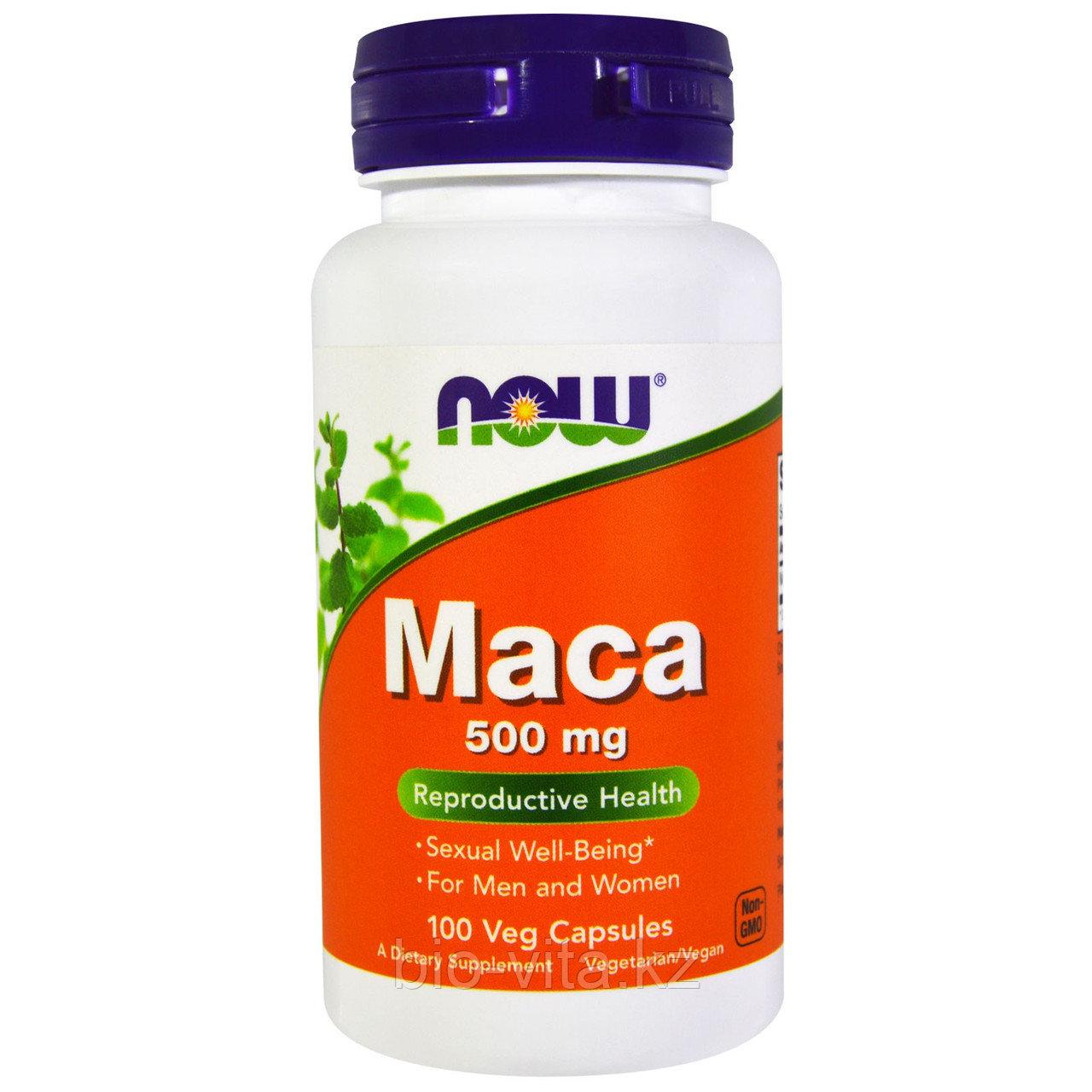 Now Foods, Мака, 500 мг, 100 вегетарианских капсул.