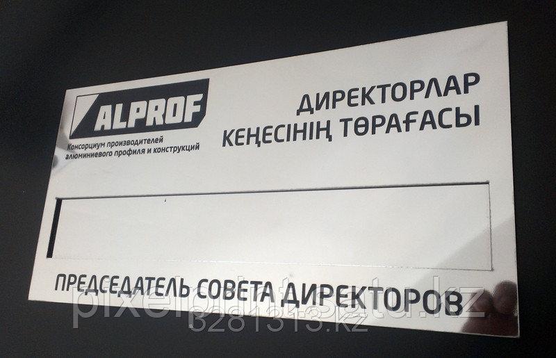 Таблички со сменной информацией (карманами) 30х15 см