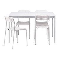 Стол и 4 стула МЕЛЬТОРП / АДДЕ белый ИКЕА, IKEA, фото 1