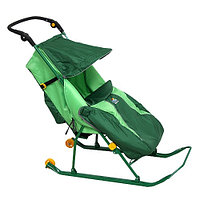 Cанки-коляска ТИМКА Т2КЛ КЛАССИК колеса Зеленый Ника, фото 1