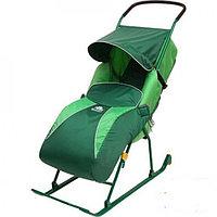 Cанки-коляска ТИМКА Т2К Комфорт колеса Зеленый Ника, фото 1