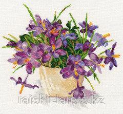 """Набор для вышивания крестиком """"Цветущий сад : Крокусы"""" 2-26"""