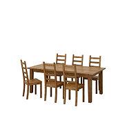 Стол раскл и 6 стульев СТУРНЭС / КАУСТБИ морилка,антик ИКЕА, IKEA, фото 1