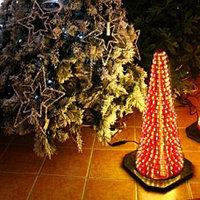 Декорация электр. Конус светящийся разноцветный (564-07) F00045