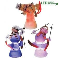 Светильник светодиод. Снеговички-лыжники h12см 990-99-47