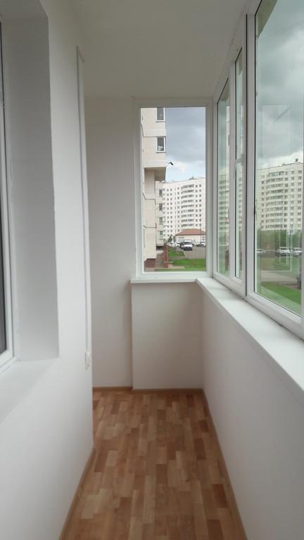 Обшивка и утепление балкона Жагалау 7