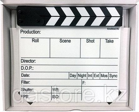 Кино Кинохлопушка белая, на английском, фото 2