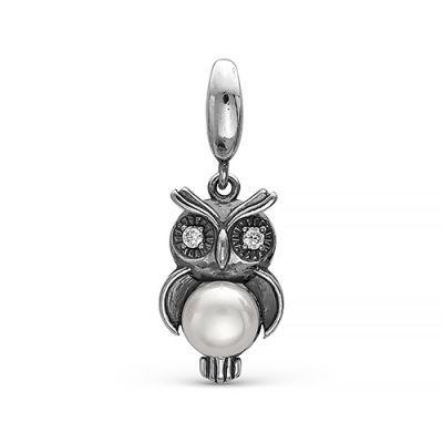 Серебряная подвеска сова