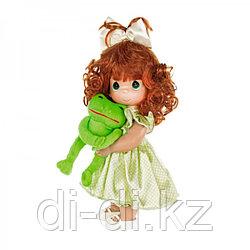 "Кукла Precious Moments ""Девочка и лягушонок Элли"", 30см"