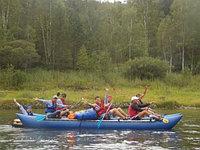"""Надувной туристический Катамаран для сплава по воде """"Шести-Восьмиместный"""" К-600, фото 1"""