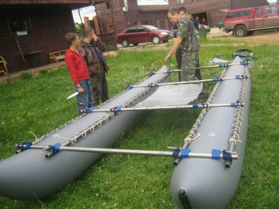 Надувные баллоны (гондолы) для катамарана К-500 (четверка-шестерка)