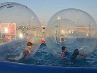 Водный Прозрачный надувной шар из ТПУ зорб (аквазорб), фото 1