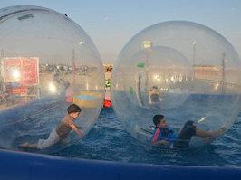 Водный Прозрачный надувной шар из ТПУ зорб (аквазорб)