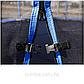 Батут уличный диаметром 244 см, с защитной сеткой и лестницей, фото 3