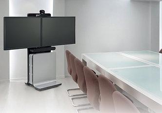 Готовые комплекты видеоконференций Polycom на мобильных стойках