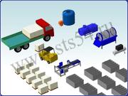 Комплекты оборудования с ручной загрузкой сырья для производства изделий из пенобетона