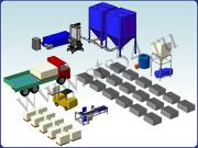 Мини завод с ручной загрузкой для производства полистиролбетона