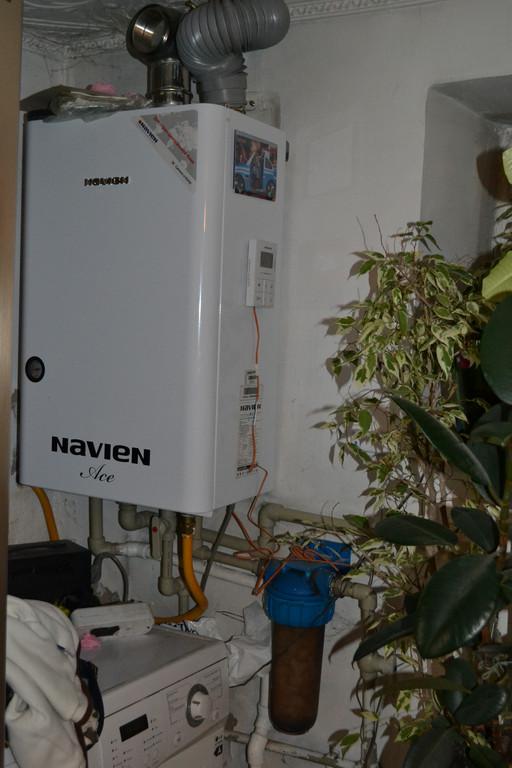 Установка настенного газового котла Navien у наших клиентов (Татарка)