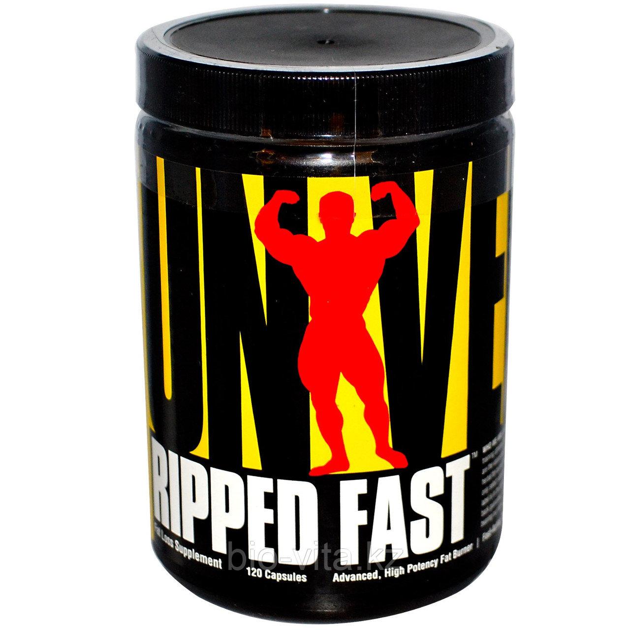 Universal Nutrition, Ripped Fast, Усовершенствованный, высокоэффективный жиросжигатель, 120 капсул.