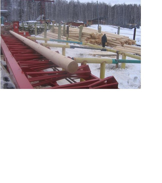 Опора деревянная пропитанная ЛЭП и связи 6м