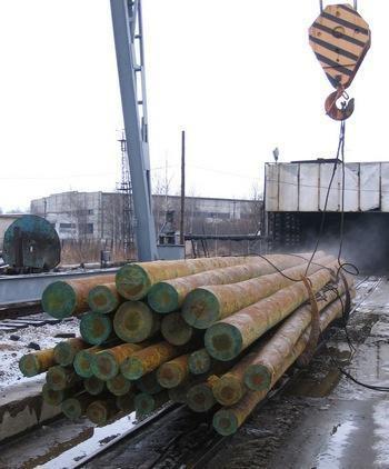 Опора ЛЭП деревянная пропитанная 6 метров. Новосибирск