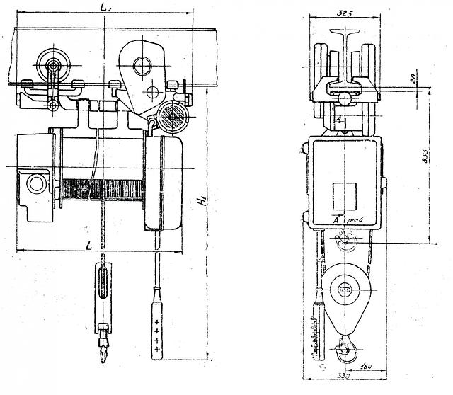 Таль электрическая ТЭ 100 ( ТЭ 1М ) г/п 1,0 т