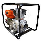 Мотопомпа бензиновая GROST-LIFAN 100ZB26-5.8Q для чистой и слабозагрязненной воды, фото 3