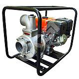 Мотопомпа бензиновая GROST-LIFAN 100ZB26-5.8Q для чистой и слабозагрязненной воды, фото 4