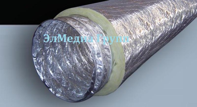 Гибкие воздуховоды изолированные различного диаметра, и материала исполнения